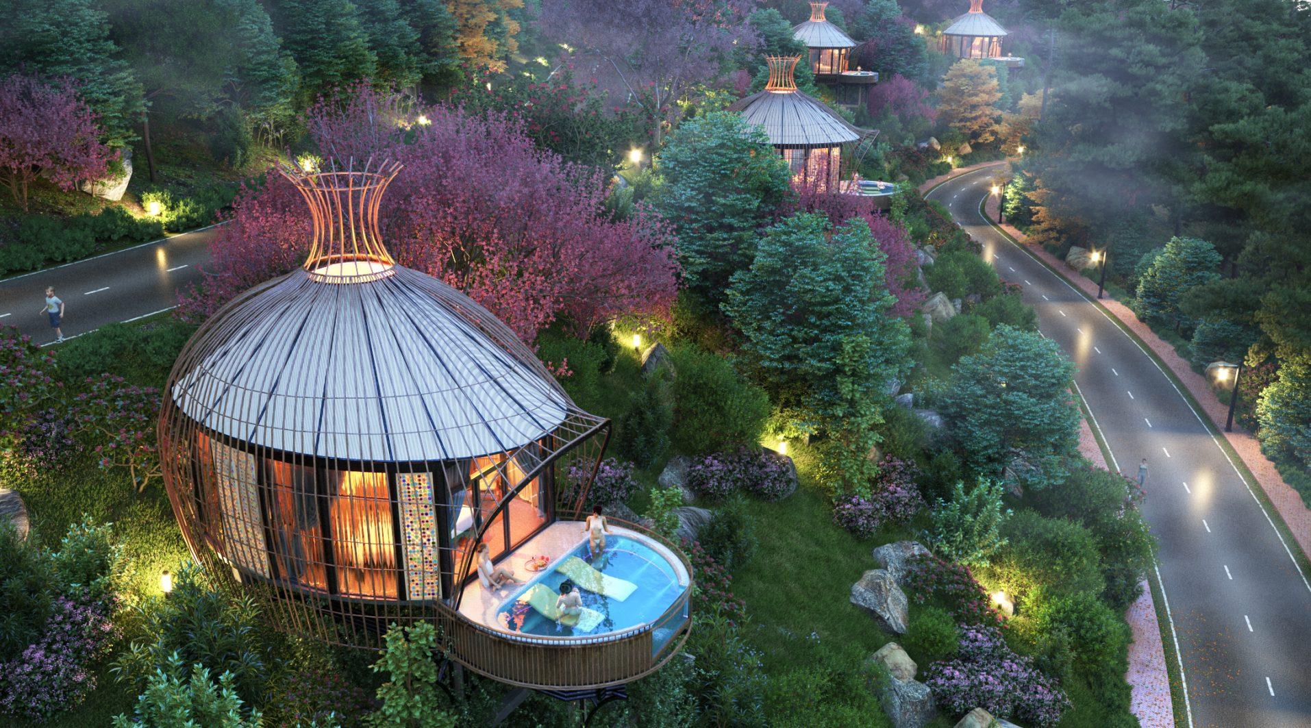 Hình ảnh 3D phối cảnh quan Resort