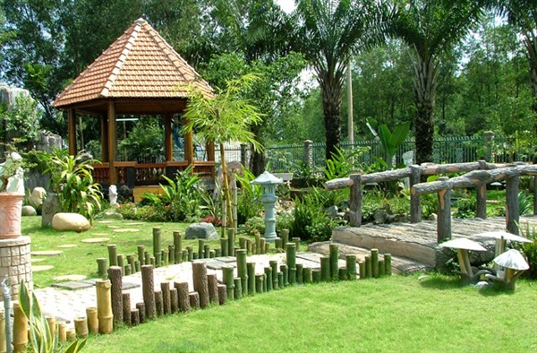 Mẫu tiểu cảnh sân vườn